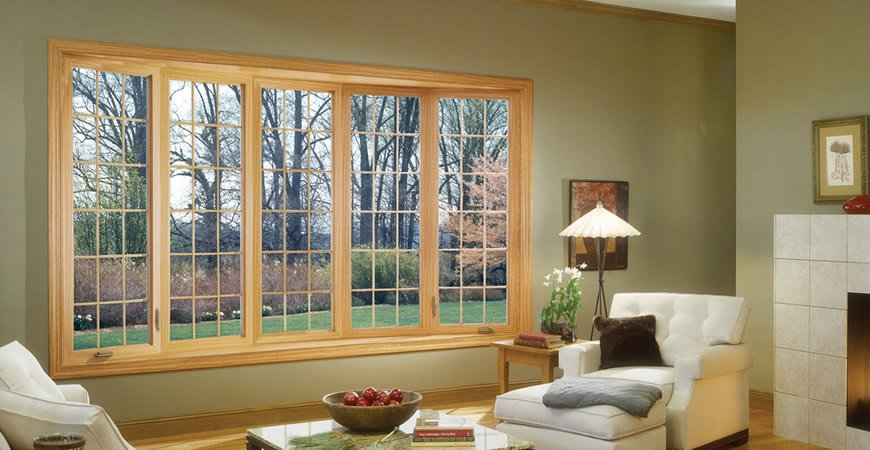 Alco Windows Products Showing A Wooden Framed Casement window